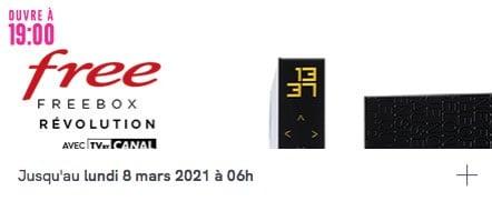 Free : vente privée Freebox Révolution avec TV by CANAL (mars 2021)