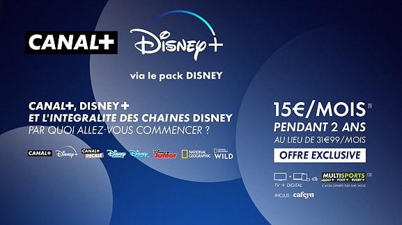 Vente privée CANAL+ et pack Disney sur Veepee (avril / mai 2021)