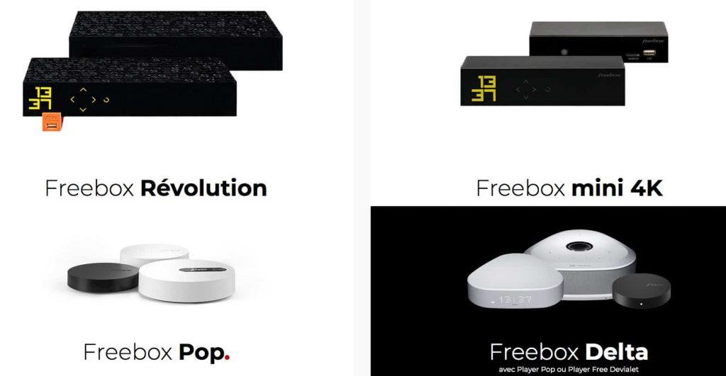 Free : gamme Freebox