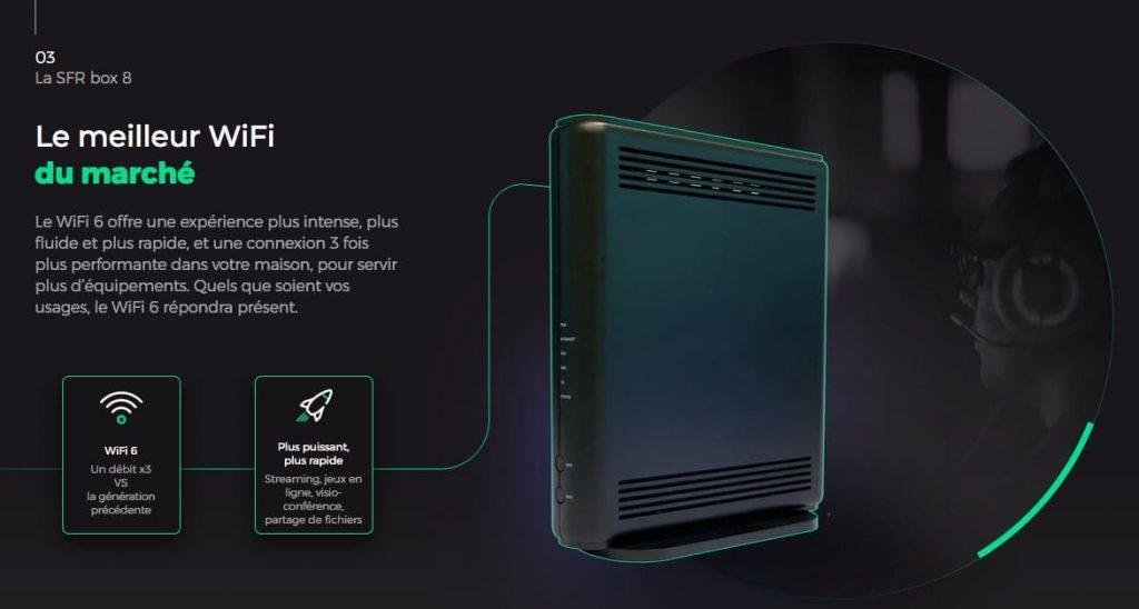 RED by SFR : box 8 de SFR compatible Wi-Fi 6 (avril 2021)