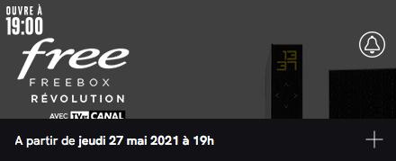 Free : annonce de la vente privée Freebox Révolution avec TV by CANAL (mai 2021)