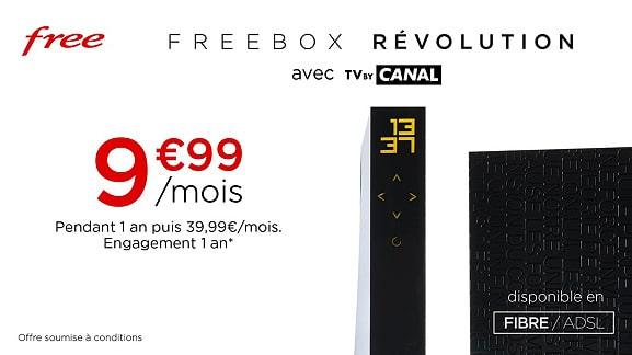 Free : tarif de la vente privée Freebox Révolution (mai 2021)