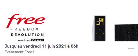 Free : vente privée Freebox Révolution avec TV by CANAL (mai / juin 2021)