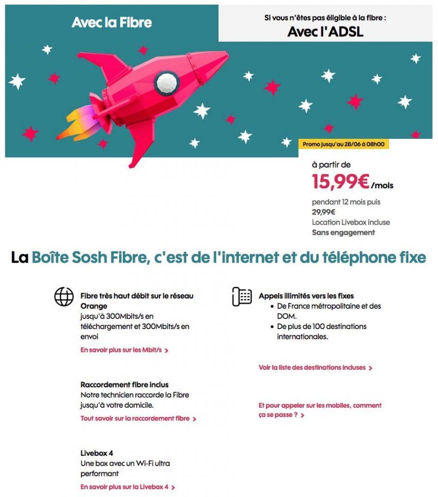 """Sosh : """"La Boîte Sosh"""", la box ADSL ou fibre optique en promotion (juin 2021)"""