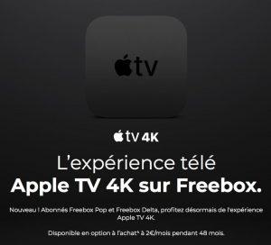 Apple TV 4K en paiement mensuel avec une offre Freebox de Free