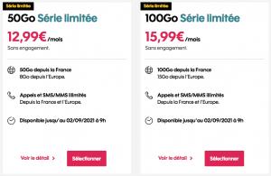 Sosh : gamme des forfaits mobile en promotion (juillet / août / septembre 2021)
