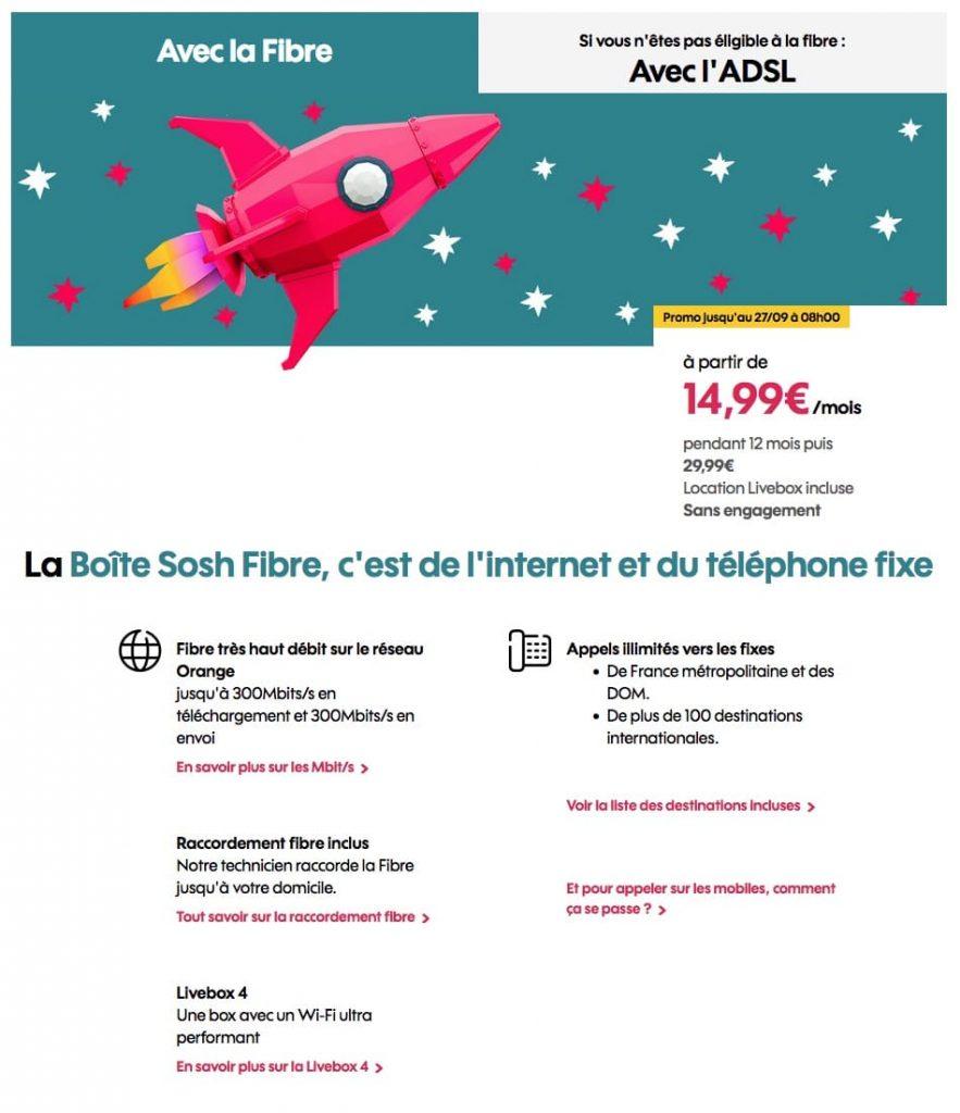 """Sosh : """"La Boîte Sosh"""", la box ADSL ou fibre optique en promotion (août / septembre 2021)"""